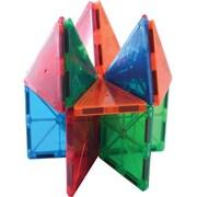 Picassotiles® Clear 3D Colors Magnet Building Block, Assorted, 100 Piece/Set (PT100)