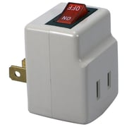 QVS® PA-1P-12PK Single Port Power Adaptor with Lighted On/Off Switch, White