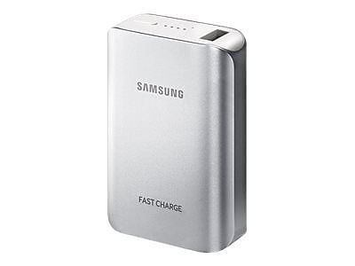 Samsung Fast Charge Lithium-Ion 10200 mAh Battery Pack, Silver, for Galaxy S7/Galaxy S7 edge (EB-PG935BSUGUS)