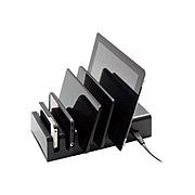 VisionTek® 5 Device Charging Station, Black, for Smartphones/Tablet/eReader (900855)