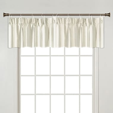 United Curtain Co. Anna Pinch Pleated Curtain Valance; Natural