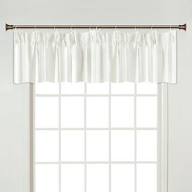United Curtain Co. Anna Pinch Pleated Curtain Valance; White