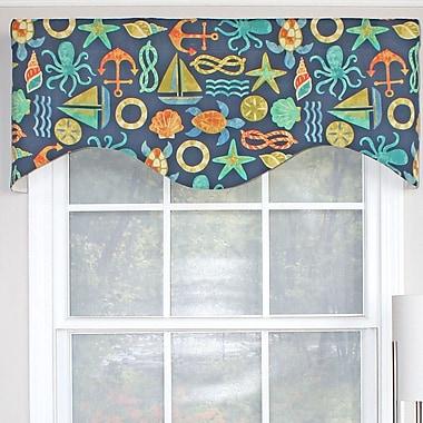 RLF Home Bay Area Cornice 50'' Curtain Valance; Neptune