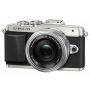Olympus PEN E-PL7 16.1MP Mirrorless Camera with Lens, 14 mm/42 mm, Silver