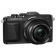 Olympus PEN E-PL7 16.1MP Mirrorless Camera with Lens, 14 mm/42 mm, Black