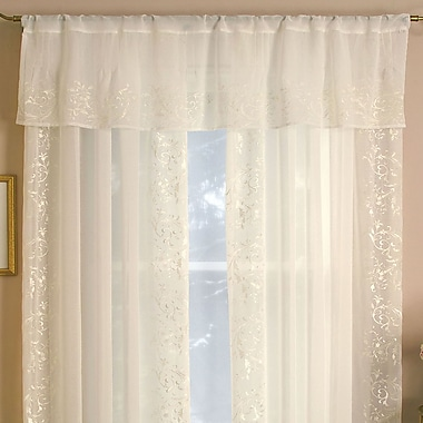 Elrene Home Fashions Addison 60'' Curtain Valance; Ivory