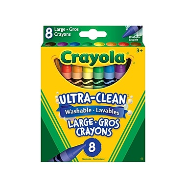 Crayola® Ultra-Clean Washable Large Crayons, 8/Pack