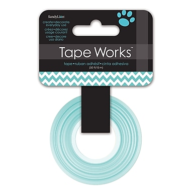 Tape Works – Ruban décoratif Washi, 12,7 mm x 15,24 m, chevrons sarcelle