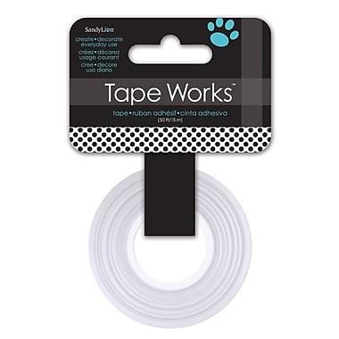 Tape Works – Ruban décoratif Washi, 12,7 mm x 15,24 m, noir et blanc à pois