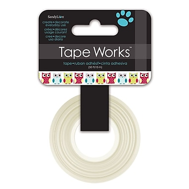 Tape Works – Ruban décoratif Washi, 12,7 mm x 15,24 m, hiboux