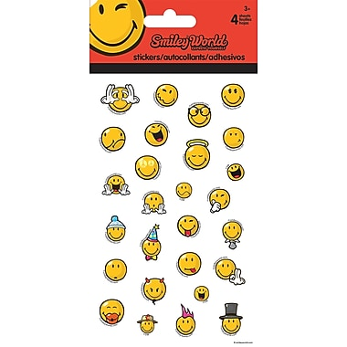 Sandylion® Smiley World Stickers, 4 Sheets/Pack