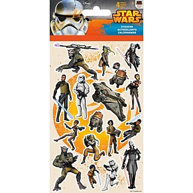 Sandylion® Star Wars Rebels Stickers, 4 Sheets/Pack