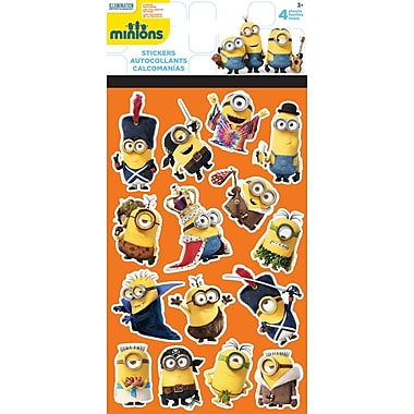 Sandylion® Minions Stickers, 4 Sheets/Pack