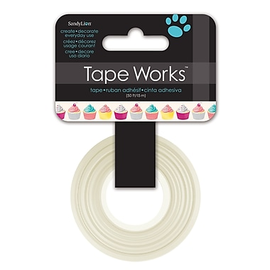Tape Works Decorative Washi Tape, 12.7 mm x 15.24 m, Cupcakes