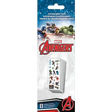 Sandylion® Avengers Assemble Stickers, 8 Sheets/Pack