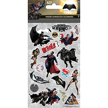 SandylionMD – Autocollants Batman vs Superman, 4 feuilles/pqt