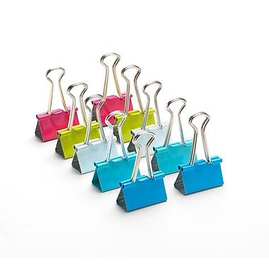Poppin – Pinces relieuses, moyennes, 1 1/4 po, couleurs variées, paq./10