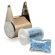 Tidymates® SNAP 'N GO FLUSHABLE WIPES AND TOILET PAPER SYSTEM Starter Set  -  Nickel Plate (DC-B14)