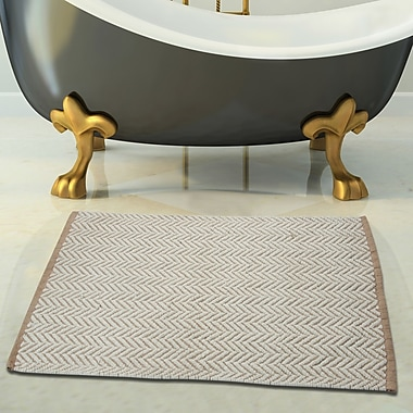 Saffron Fabs 2 Piece 100pct Cotton and Tufted Bath Rug Set; Ivory and Beige
