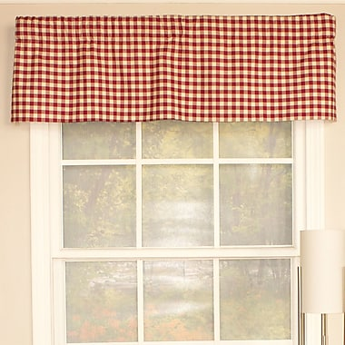 RLF Home Peacock Check Straight Curtain Valance