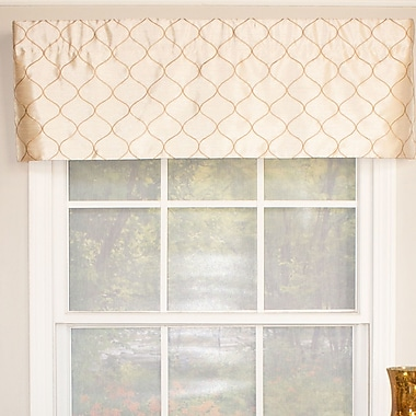 RLF Home Emily Straight Curtain Valance; Butter