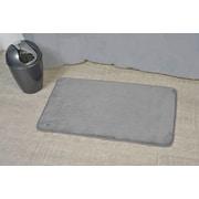 Evideco Non Skid Rectangular Bath Mat; Gray