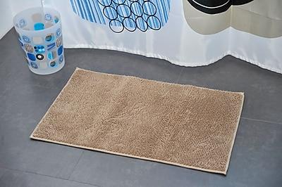 Evideco Non Skid Rectangular Bath Mat; Taupe
