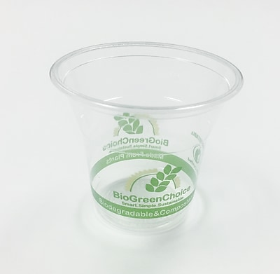 BioGreenChoice 5 oz. Clear Compostable PLA Cold Cup, 2000/Case