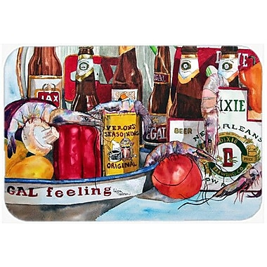 Caroline's Treasures Veron's and New Orleans Beers Kitchen/Bath Mat; 20'' H x 30'' W x 0.25'' D