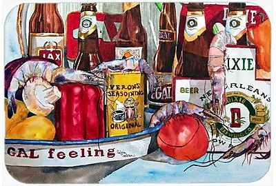 Caroline's Treasures Veron's and New Orleans Beers Kitchen/Bath Mat; 24'' H x 36'' W x 0.25'' D