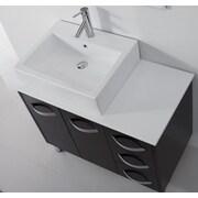 Virtu Ultra Modern Series 37'' Single Bathroom Vanity Set with Mirror; Espresso