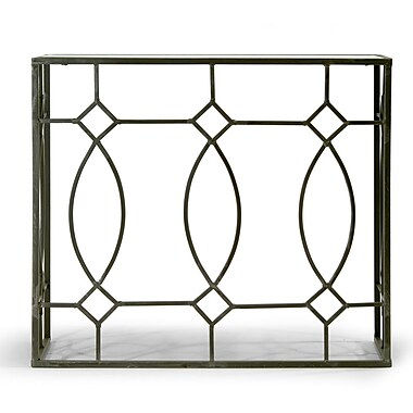 Glamour Home Decor Aaralyn Mirrored Console Table