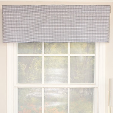 RLF Home Crosswell Denim Straight Curtain Valance