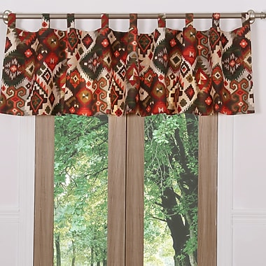 Greenland Home Fashions Folk Festival Rustic 84'' Curtain Valance