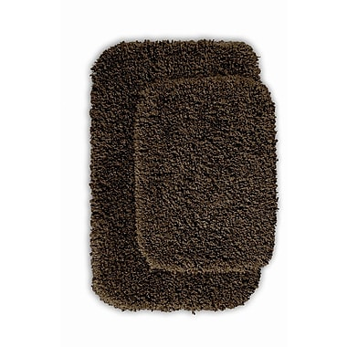 Wildon Home Devin 2 Piece Black Bath Rug Set (Set of 2); Chocolate