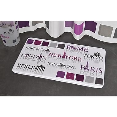 Evideco World Capitals Printed Bath Rug