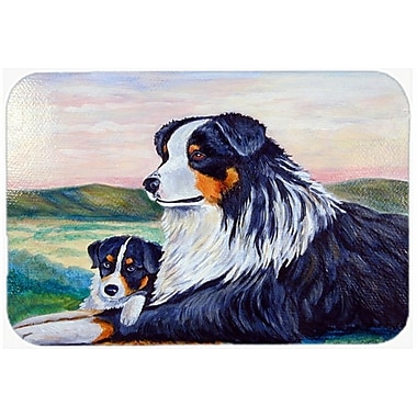 Caroline's Treasures Australian Shepherd Kitchen/Bath Mat; 24'' H x 36'' W x 0.25'' D