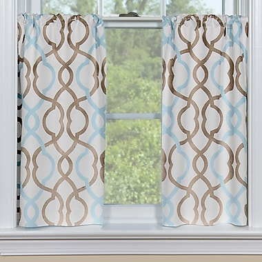 Contempo Curtains Makes Waves Tier Curtain (Set of 2); 36'' H x 48'' W