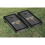 Victory Tailgate NCAA Towson University Tigers Onyx Stained Border Wooden Cornhole Game Set
