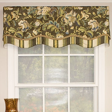 RLF Home Noblesse Glory 50'' Curtain Valance