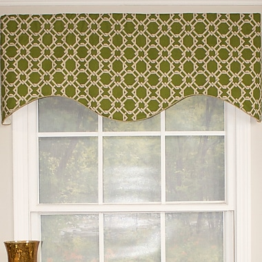 RLF Home Lateral Cornice 50'' Curtain Valance