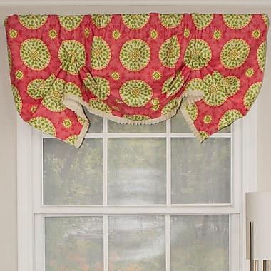 RLF Home Canne Handkerchief 50'' Curtain Valance; Citrus