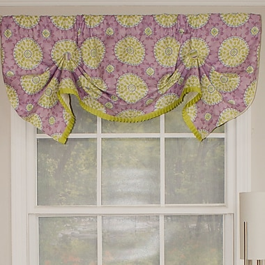 RLF Home Canne Handkerchief 50'' Curtain Valance; Heather
