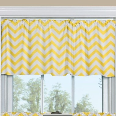 Contempo Curtains Zig Zag 50'' Window Valance; Yellow
