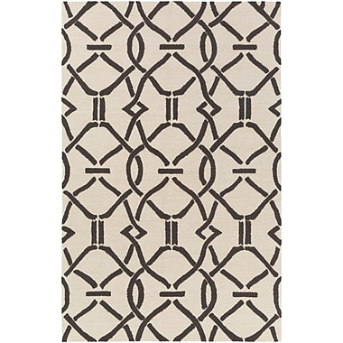 Artistic Weavers Marigold Serena Hand-Crafted Cream/Brown Area Rug; 7'6'' x 9'6''