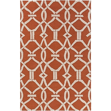 Artistic Weavers Marigold Serena Hand-Crafted Poppy Red Area Rug; 5' x 7'6''