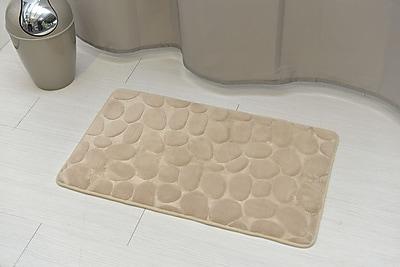 Evideco Stone Non Skid Bath Rug; Taupe