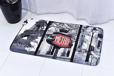 Evideco Paris Romance Printed Bath Rug; 23.62'' x 35.43''