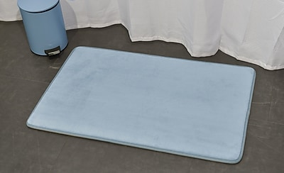 Evideco Ultra Soft Highlight Bath Rug; Blue