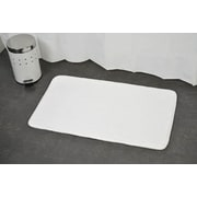 Evideco Non Skid Rectangular Bath Mat; White